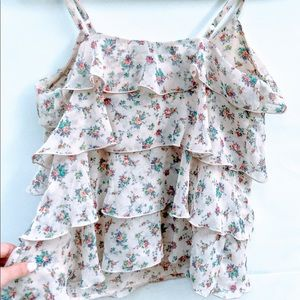 Forever 21 Floral Flowy Tank Top